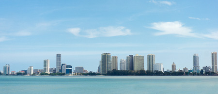 Panorama view of Penang from the sea