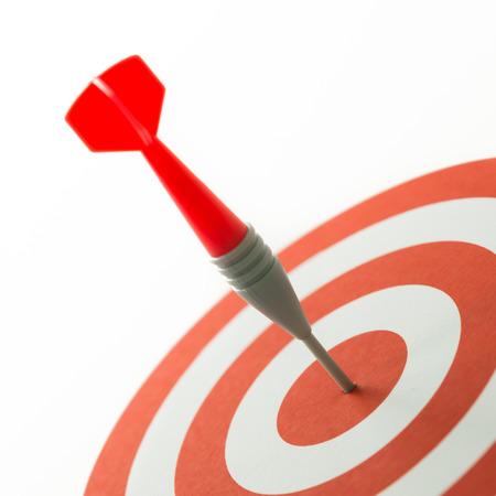 ブルズアイで固定されている dart を使用してターゲットの概念を満たす