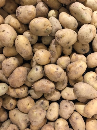 Group of potatoes on sale Imagens