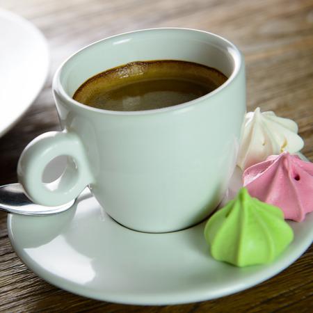 afternoon break: Cup of Americano coffee for afternoon tea break