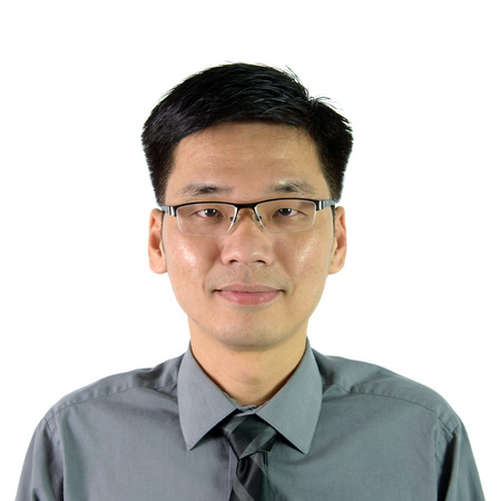 chinese face: Portrait of Asian man in formal suit Stock Photo
