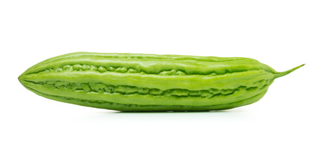 bitter melon: Close up of bitter melon on white background Stock Photo