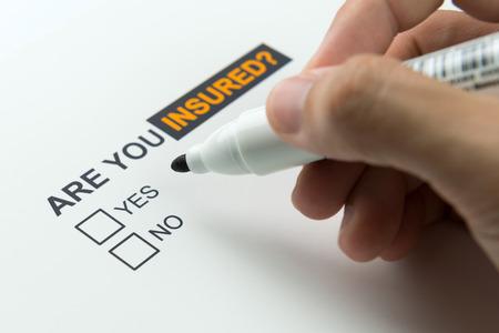 Choisir entre oui ou non d'être assuré
