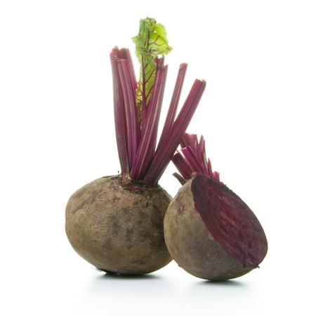 Raw beet root isolated on white background Zdjęcie Seryjne