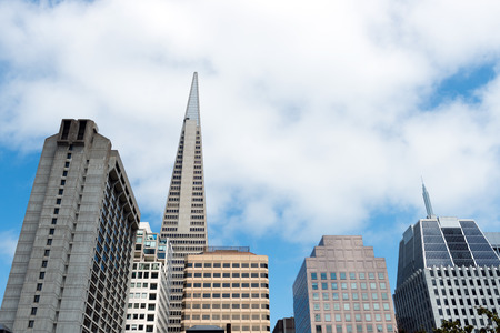 transamerica: View of various high rise office building in San Francisco Stock Photo