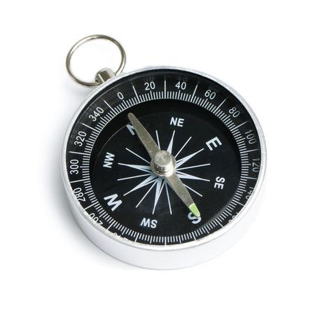 Black compass instrument isolated on white background Standard-Bild