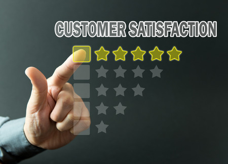 five stars: Five stars rating achieved for customer satisfaction survey