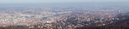 stuttgart: Panoramic view of the city of Stuttgart in Germany Stock Photo