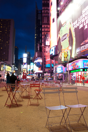 42nd: NEW YORK - MAY 9: Night scene of Times Square in Manhattan New York city May 9, 2010 in New York, United States