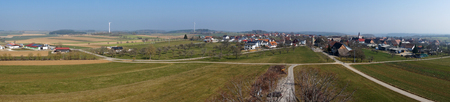 scenary: Panoramic view of the typical German villages from a tower