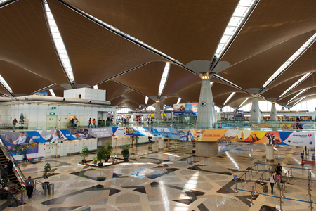 KLIA Sepang, Malaysia: 26, July 2017 - Interior view of KLIA building.  KLIA is one of the major airports in South East Asia