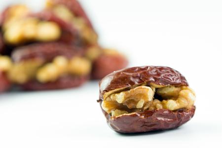 Red dates or jujube stuffed with walnut ready to serve