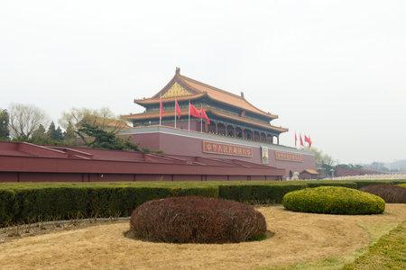Beijing, CHINA - 23 MAR, 2018: Beijing Tiananmen square is the center of Beijing, it is also a sign of Beijing 新聞圖片