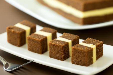 Sarawak famous dessert chocolate cheese layers cake