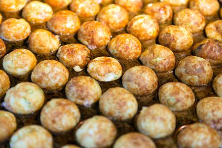 Takoyaki or octopus balls is a famous japanese street food Stock Photo