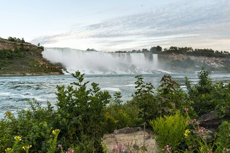Lanscape view of Niagara Falls from the Ontario, Canadian side
