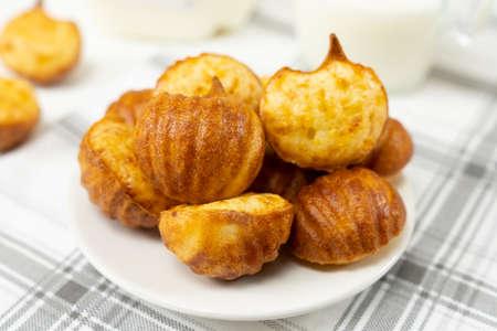 Brazilian snack cheese bread or pao de queijo in pumpkin shape 版權商用圖片