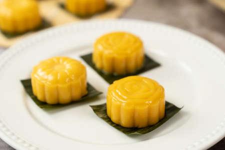 Malaysia popular sweet dessert or simply known as sweet potato kueh or kuih