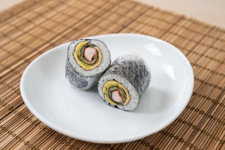 Korean and Japanese style sushi kimbap wraps