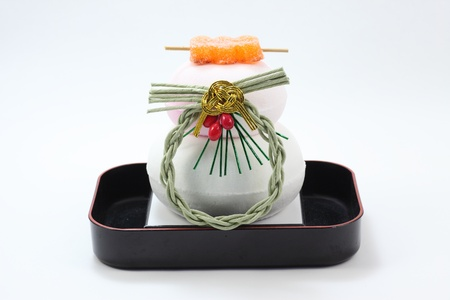 In Japan, New Year, the clots doubled-over Kagamimochi to what is called, there is a custom decorating. photo