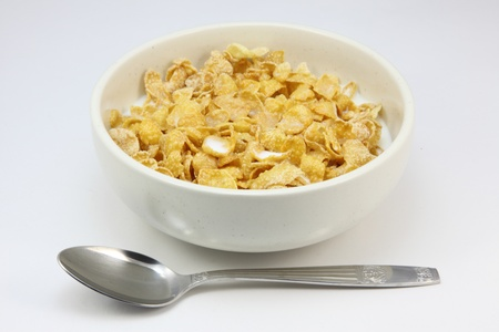 I took some pictures of breakfast in the morning, it was cereal.