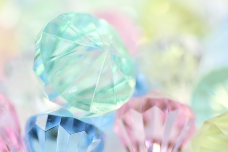 diamond-shaped acrylic products Stock Photo