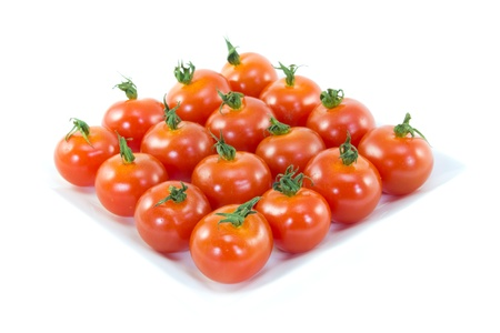 This is the photo was taken to place the diamond-shaped cherry tomatoes. Stock Photo - 13091068