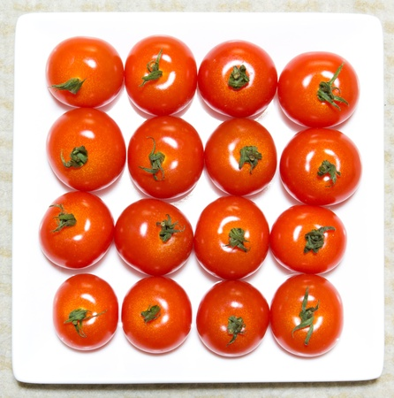 This is the photo was taken to place the square-shaped cherry tomatoes. Stock Photo - 13091019