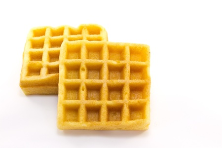 This is a picture of waffles snack of one day