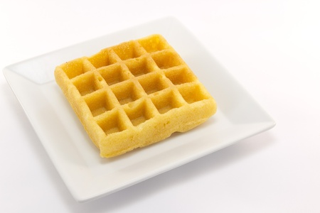 belgian: This is a picture of waffle snack of one day