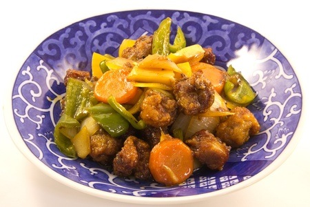 This is a picture of sweet and sour pork for dinner one day  Stock Photo - 13515961