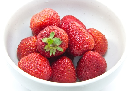 This is a picture of a dessert of strawberries Stock Photo - 13515928
