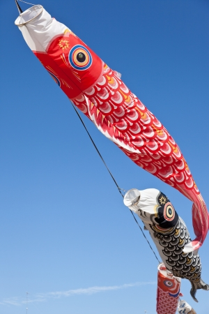 This is a picture of carp streamers is decorated on the day of children Stock Photo - 13777989