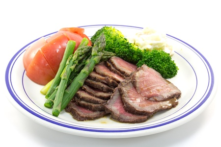This is a picture of roast beef I ate today  Stock Photo
