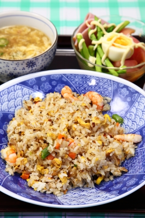 shark fin: This is a picture of fried rice I have ever eaten  Stock Photo