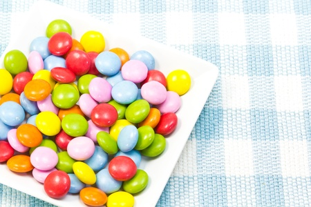 This is a picture of six-color chocolate. Stock Photo - 14266751