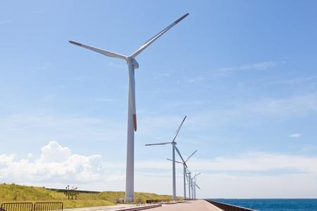 Il s'agit d'une photo d'un parc éolien que j'ai pris en Août. Banque d'images