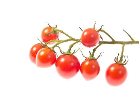 This is a picture of cherry tomatoes I have grown. Stock Photo