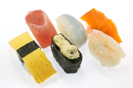 This is a picture of the sushi I ate one day.