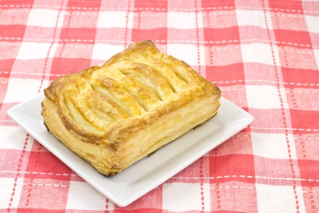 This is a photo of apple pie that I ate one day. Stock Photo