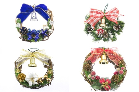 This is a photograph of a wreath decorated with Christmas. Stock Photo - 15983650