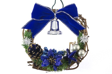 This is a photograph of a wreath decorated with Christmas. Stock Photo - 15983789
