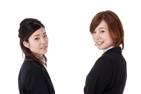 This is a photo of two young business people. Stock Photo - 16061252