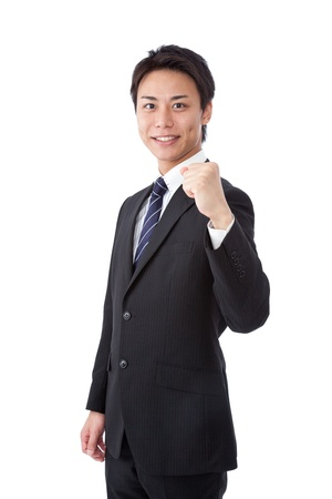 This is a picture of a young businessman posing guts. Stock Photo - 16165052
