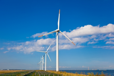 This is a photograph of a wind farm that I have taken. Stock Photo - 16240138