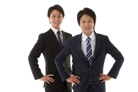 two young businessmen. photo