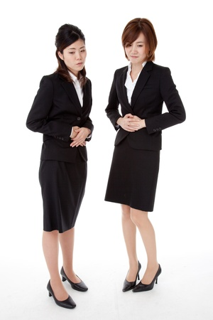 This is a photo of two young business people Stock Photo - 16356130