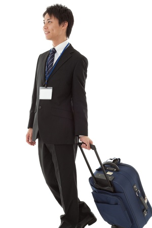 This is a picture of a young businessman on a business trip.