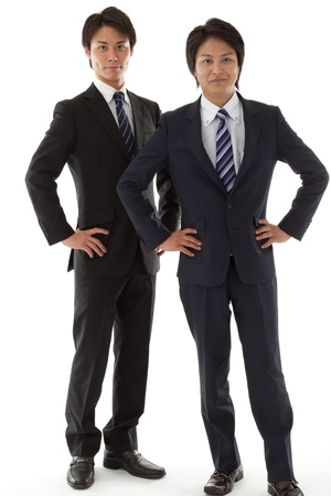 This is a photo of two young businessman  photo
