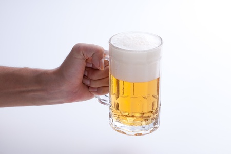 This is a photo of beer poured into a jug.